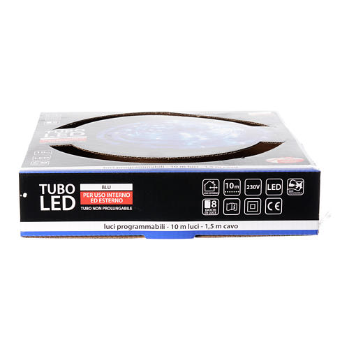 Christmas led tube light blue 10 mt for external use programmable 4