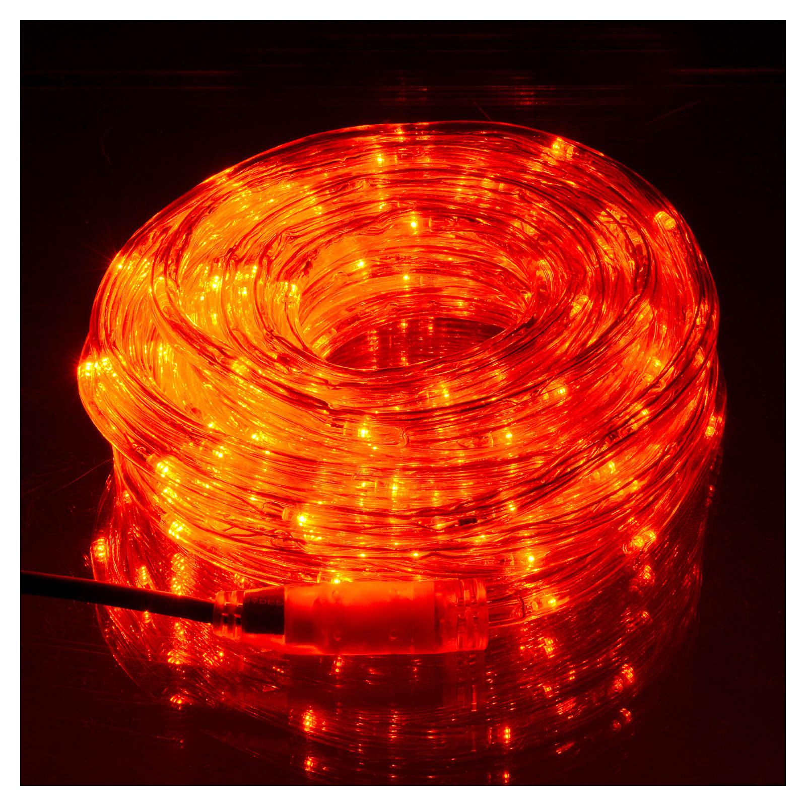 Luce natalizia tubo led rosso programmabile 10 mt esterno 3