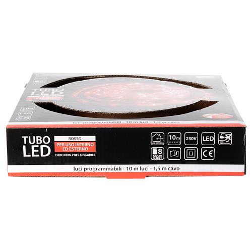 Luce natalizia tubo led rosso programmabile 10 mt esterno 4