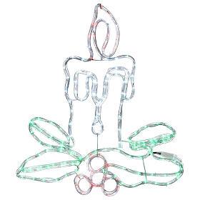 Décoration Noël bougie 168 leds extérieur s1