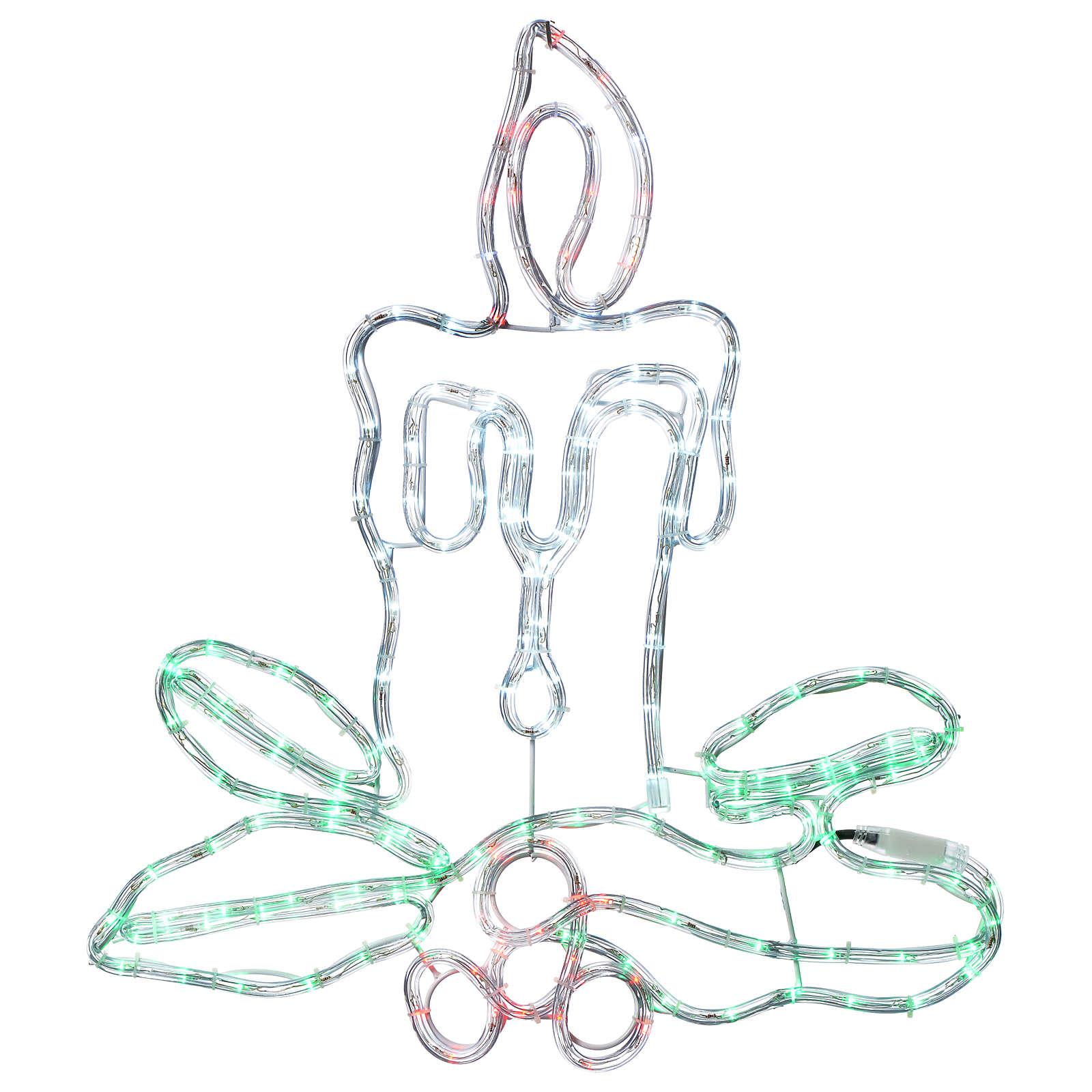 Decorazione natalizia candela 168 led esterno 3