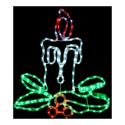 Decorazione natalizia candela 168 led esterno 2