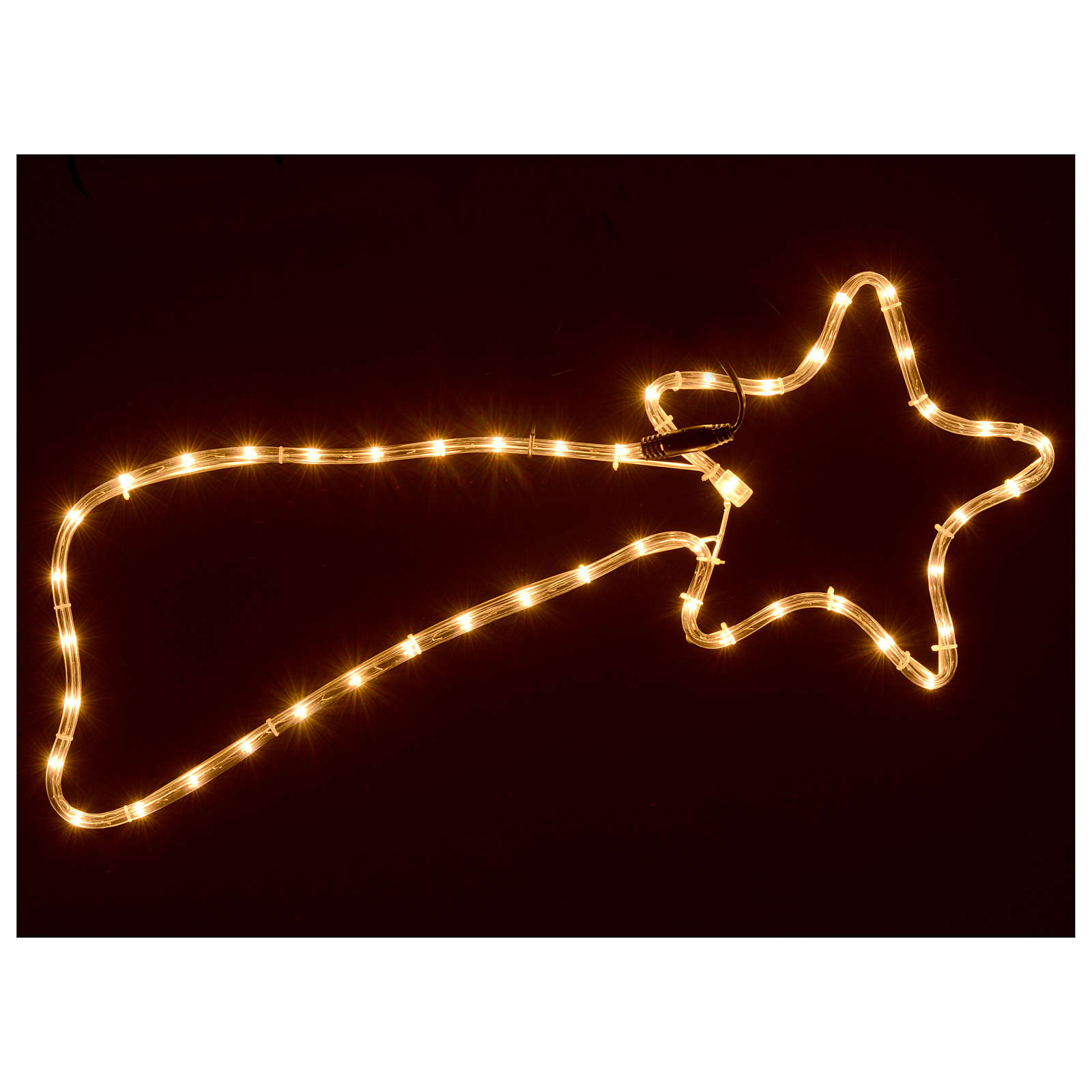 Christmas decoration comet 64 lights external use 65x30 cm 3