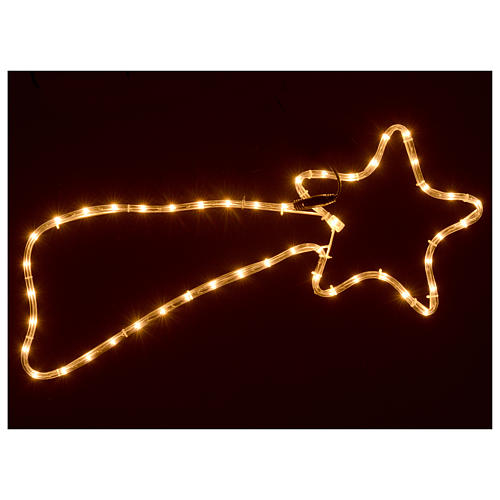 Christmas decoration comet 64 lights external use 65x30 cm 2