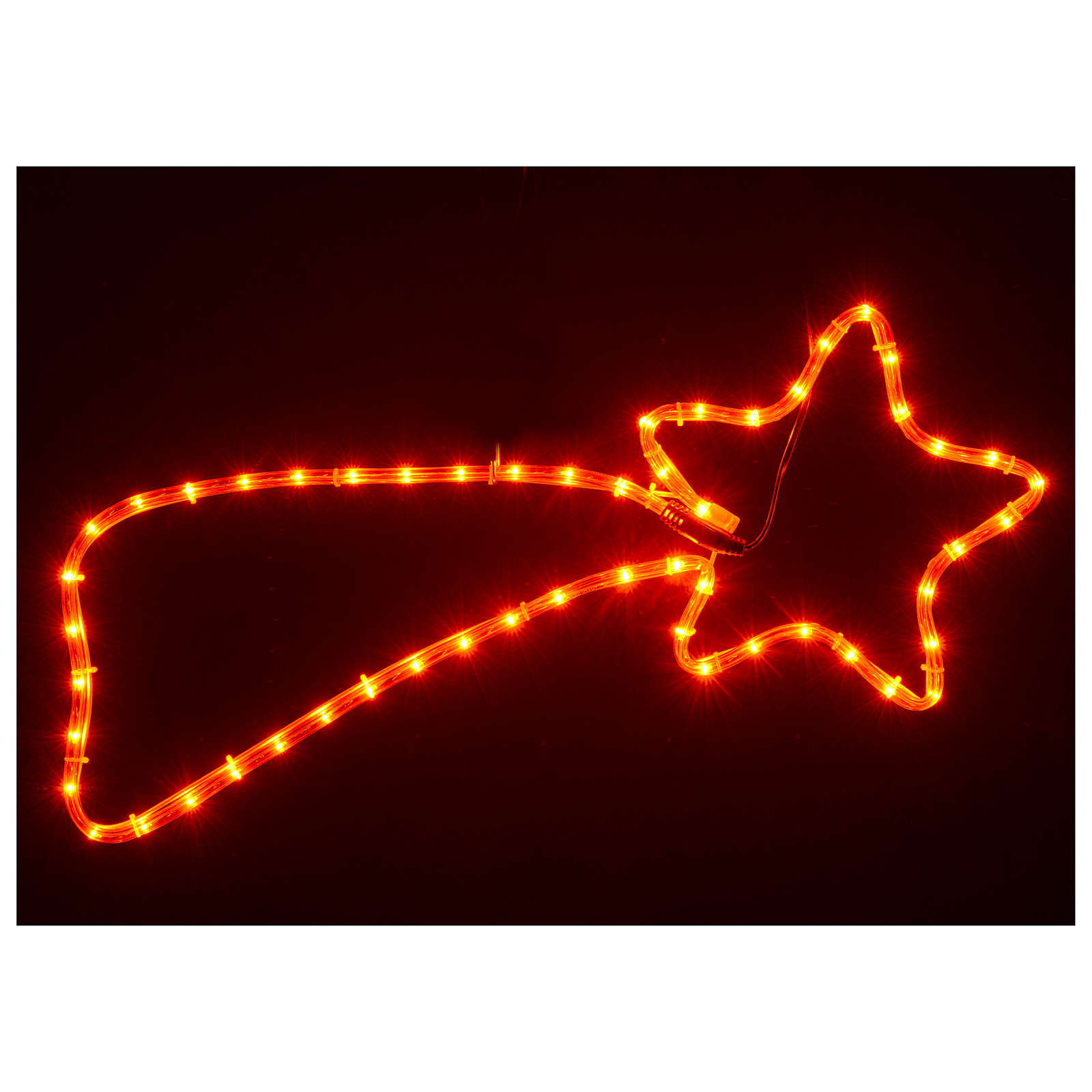 Christmas decoration red comet 64 lights for internal use 65x30 cm 3