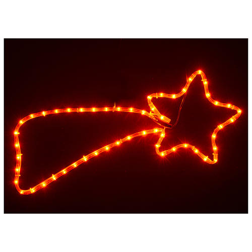 Christmas decoration red comet 64 lights for internal use 65x30 cm 2
