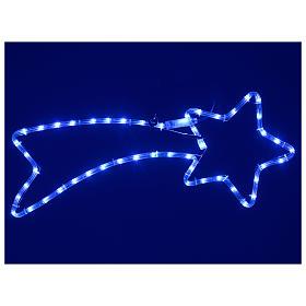 Decorazione stella cometa 65x30 cm led 36 blu per esterno s2