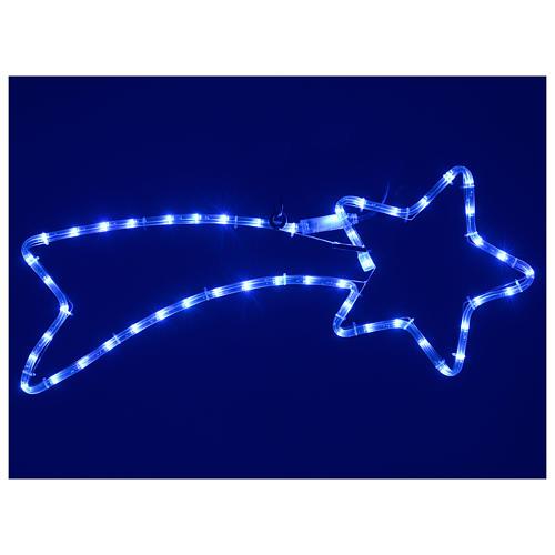 Decorazione stella cometa 65x30 cm led 36 blu per esterno 2