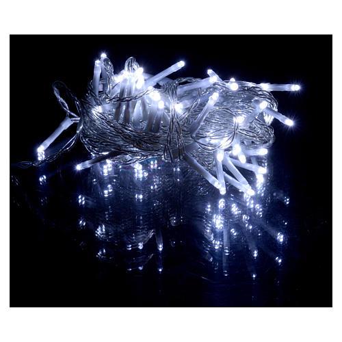 Catena luci Natale 80 led ghiaccio timer batteria esterno 2