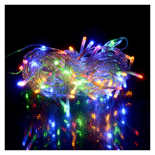Luci Natale Led Esterno.Catena Luci Natale 80 Led Multicolor Batteria Timer Esterno
