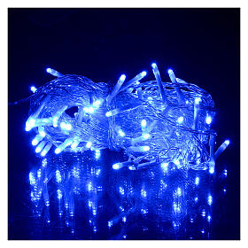 Catena luci Natale 80 led blu batteria timer esterno s2