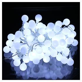 Luci sfere 100 led Bianco ghiaccio uso interno ed esterno s2