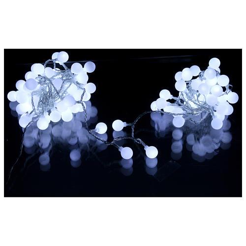 Luci sfere 100 led Bianco ghiaccio uso interno ed esterno 3