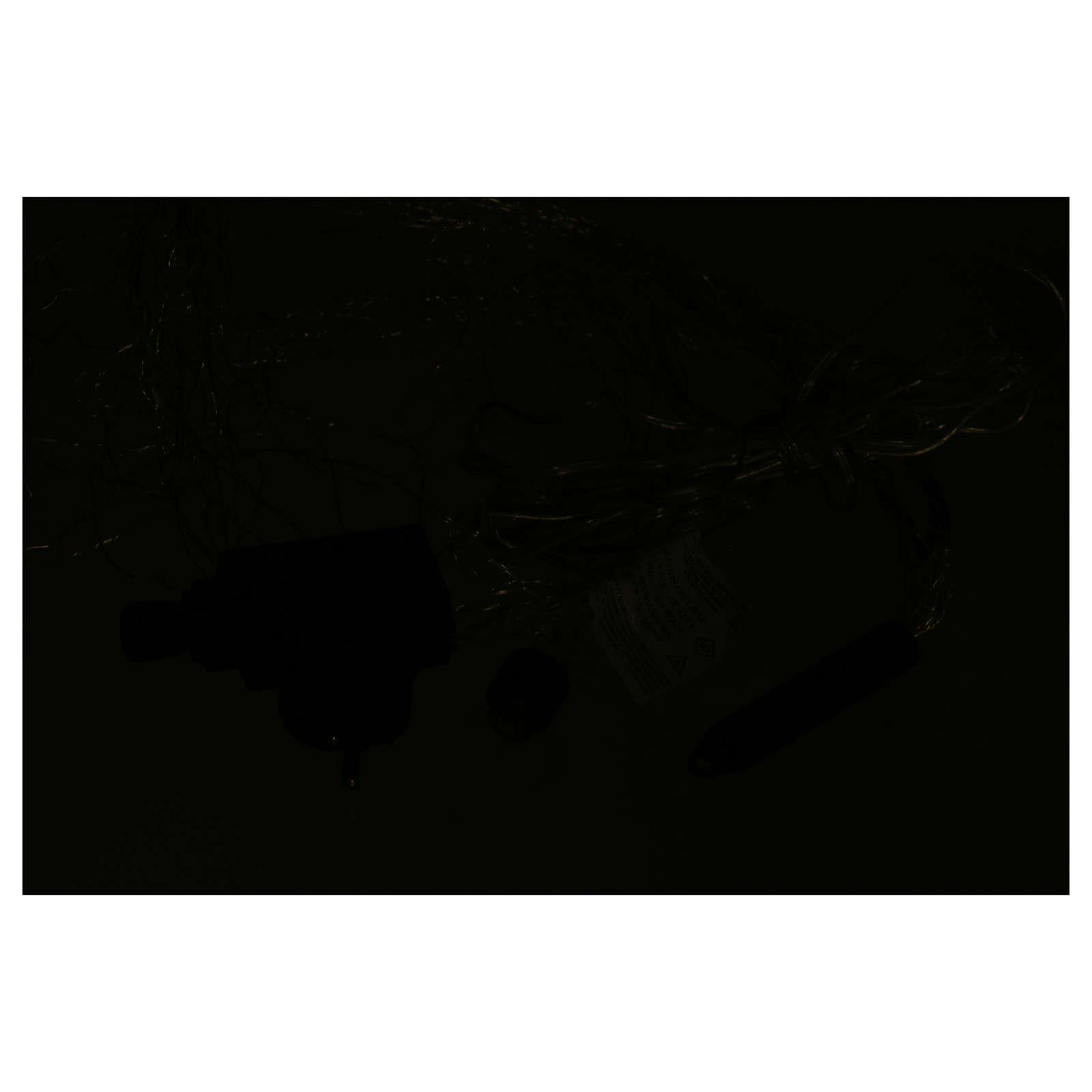 Cascata luci 360 nano led Bianco Ghiaccio 1,5 m uso interno 3