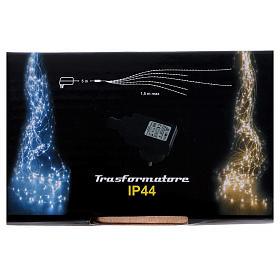 Cascata luci 360 nano led Bianco Ghiaccio 1,5 m uso interno s6