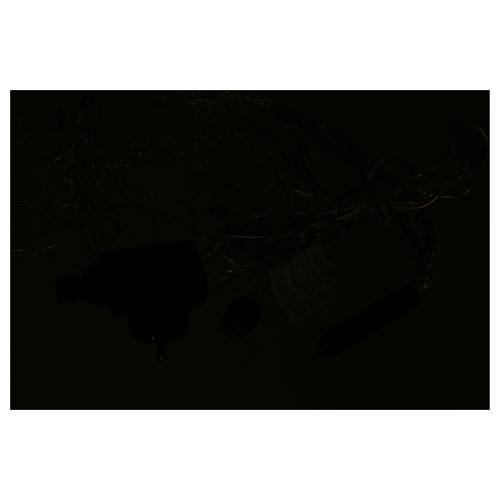Cascata luci 360 nano led Bianco Ghiaccio 1,5 m uso interno 4