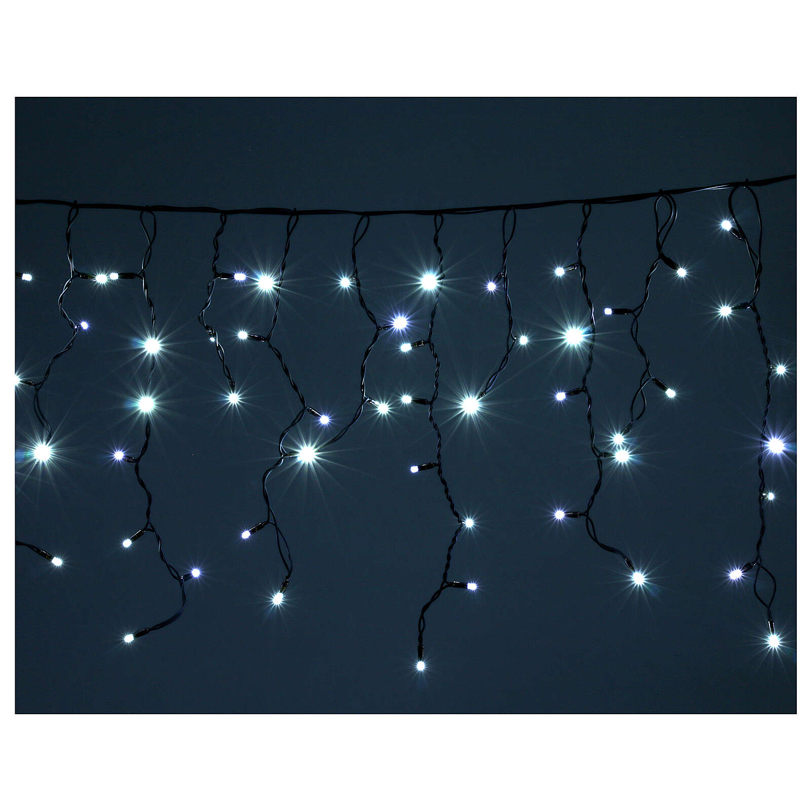 Illuminted curtain 180 ice white leds internal and external use 3