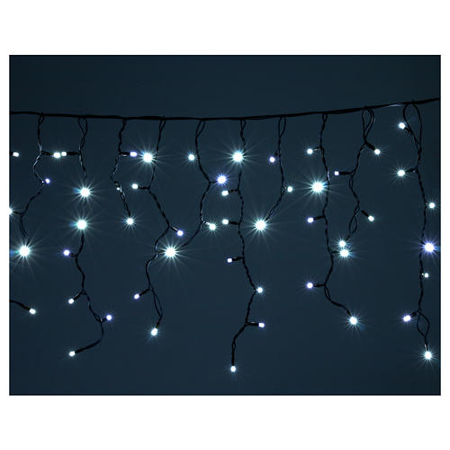 Illuminted curtain 180 ice white leds internal and external use 2