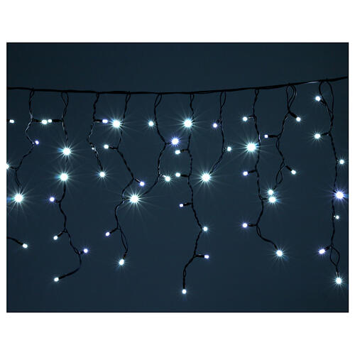 Illuminted curtain 180 ice white leds internal and external use 1