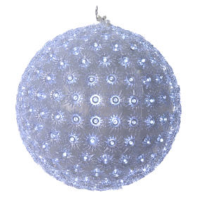Christmas light sphere 20 cm led cold white internal and external s1