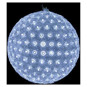 Christmas light sphere 20 cm led cold white internal and external s2
