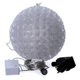 Christmas light sphere 20 cm led cold white internal and external s4