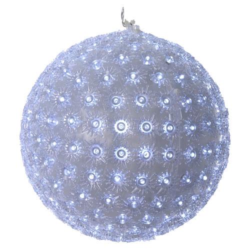 Christmas light sphere 20 cm led cold white internal and external 1