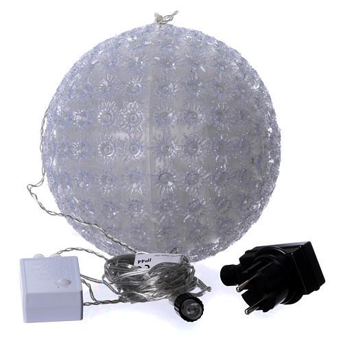 Christmas light sphere 20 cm led cold white internal and external 4