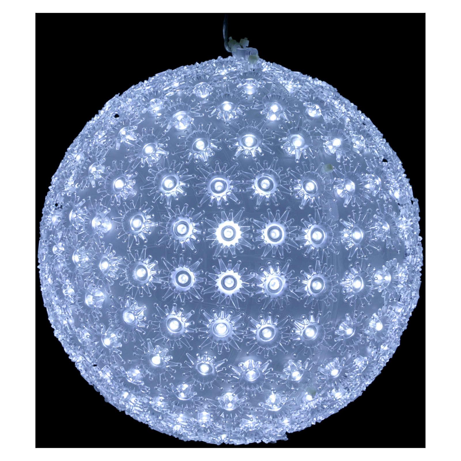 Luce natalizia sfera 20 cm led Bianco freddo interno ed esterno 3