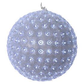 Luce natalizia sfera 20 cm led Bianco freddo interno ed esterno s1
