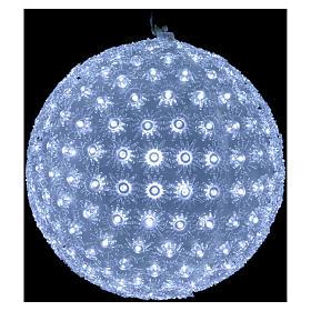 Luce natalizia sfera 20 cm led Bianco freddo interno ed esterno s2