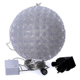 Luce natalizia sfera 20 cm led Bianco freddo interno ed esterno s4
