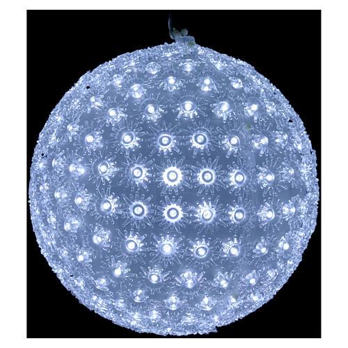 Luce natalizia sfera 20 cm led Bianco freddo interno ed esterno 2