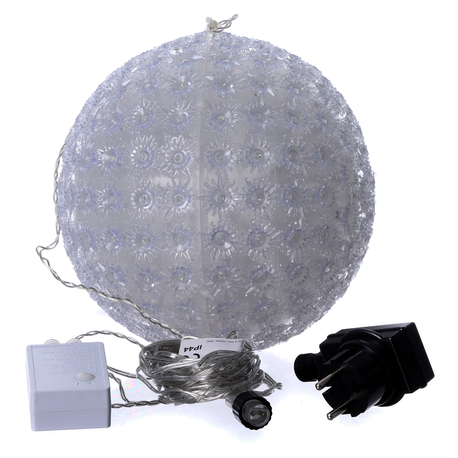Christmas light sphere 25 cm led cold white internal and external 3