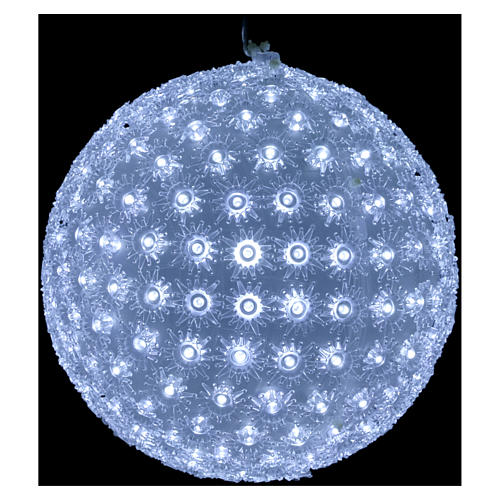 Christmas light sphere 25 cm led cold white internal and external 2