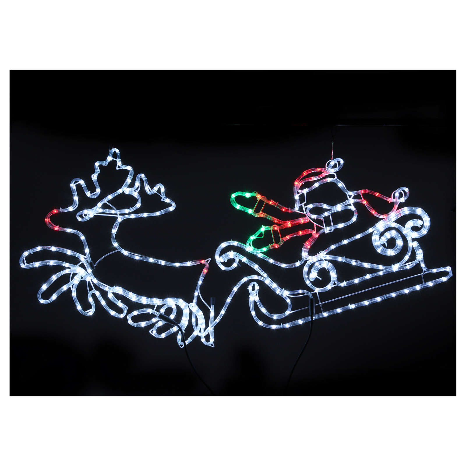 Luce natalizia Babbo Natale 312 led interno esterno 3
