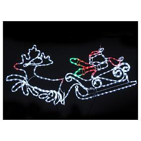Luce natalizia Babbo Natale 312 led interno esterno s2