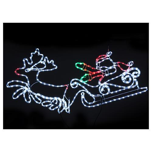 Luce natalizia Babbo Natale 312 led interno esterno 2