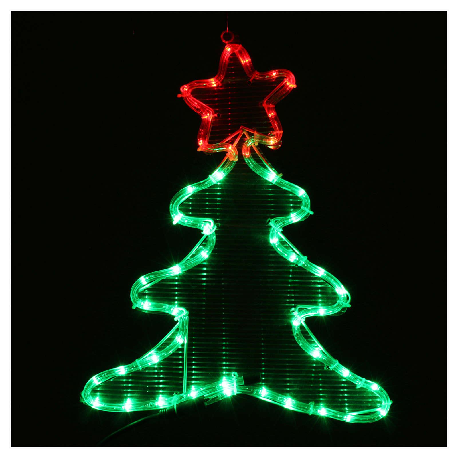 Luce di Natale albero 48 led per interno ed esterno 3