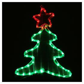 Luce di Natale albero 48 led per interno ed esterno s2