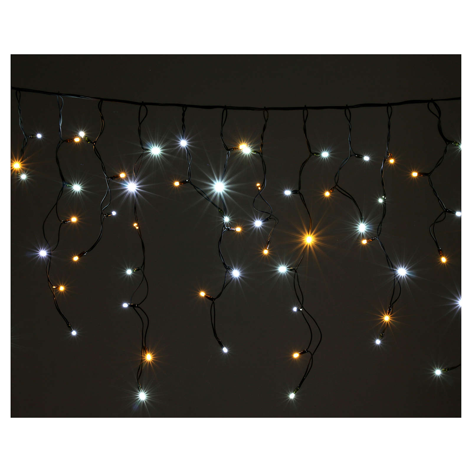 Light curtain 180 leds warm white and ice white internal and external use 3