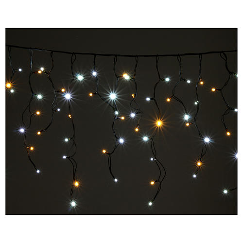 Light curtain 180 leds warm white and ice white internal and external use 2