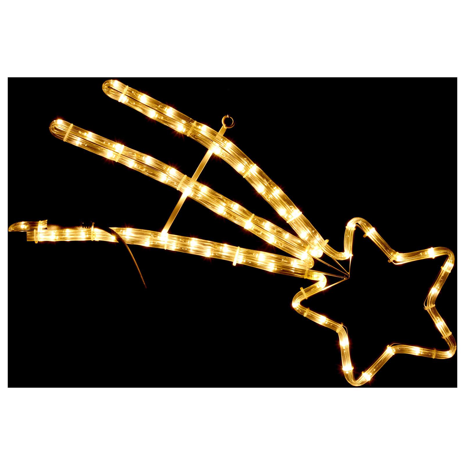 Estrella Cometa 72 Led interior exterior blanco cálido 3
