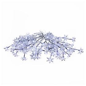 Christmas lights: Transparent flower lights 100 leds cold white internal and external use