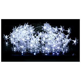 Luci Fiori Trasparenti 100 led bianco freddo interno esterno s2