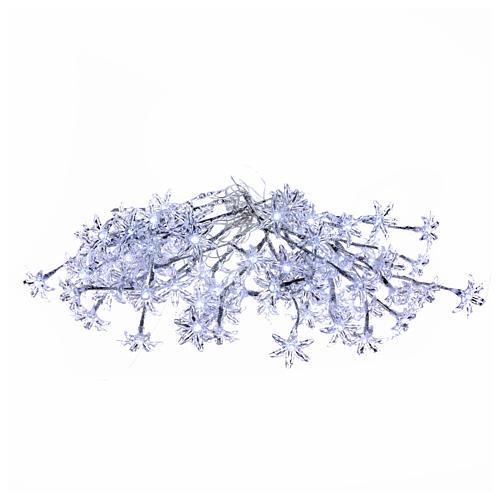 Luci Fiori Trasparenti 100 led bianco freddo interno esterno 1