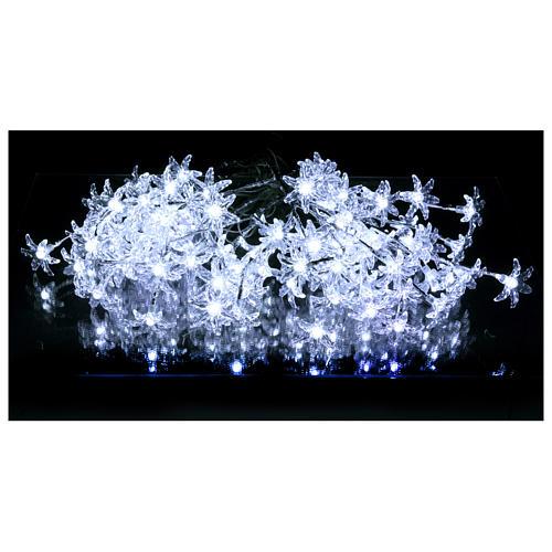 Luci Fiori Trasparenti 100 led bianco freddo interno esterno 2