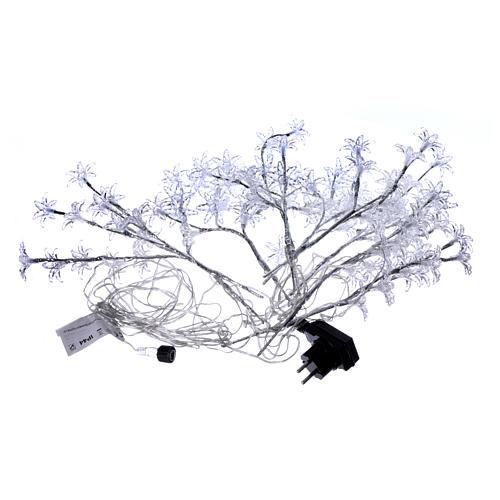 Luci Fiori Trasparenti 100 led bianco freddo interno esterno 5