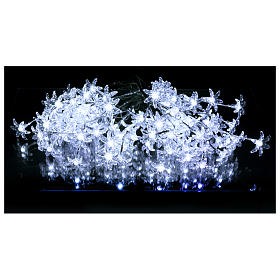 Transparent flower lights 100 leds cold white internal and external use s2
