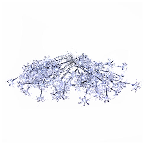 Transparent flower lights 100 leds cold white internal and external use 1